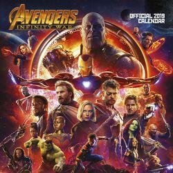 Nástěnný kalendář Infinity War 2019