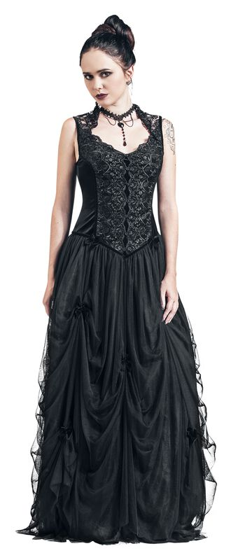 Dlouhé sametové šaty
