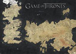 Mapa Westeros & Essos