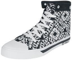 Cierno-biele tenisky s batikovaným vzhladom