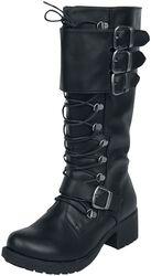 Černé šněrovací boty s přezkami