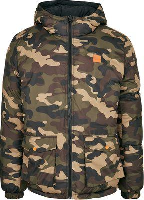 Oboustranná prošívaná bunda s kapucí