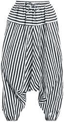Háremové kalhoty s proužky
