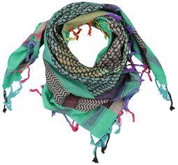 palestinský šátek Multicolour Blue-Green