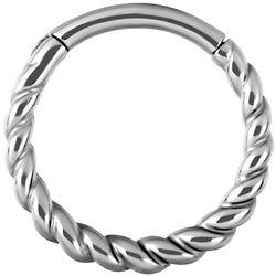 Kroužek s pleteným designem Twisted Rope