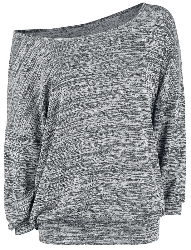 Oversized žíhaný svetr se širokým límcem