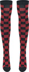 Ladies Checkerboard Overknee Socks