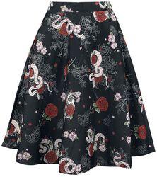 Python Rose Mid Skirt